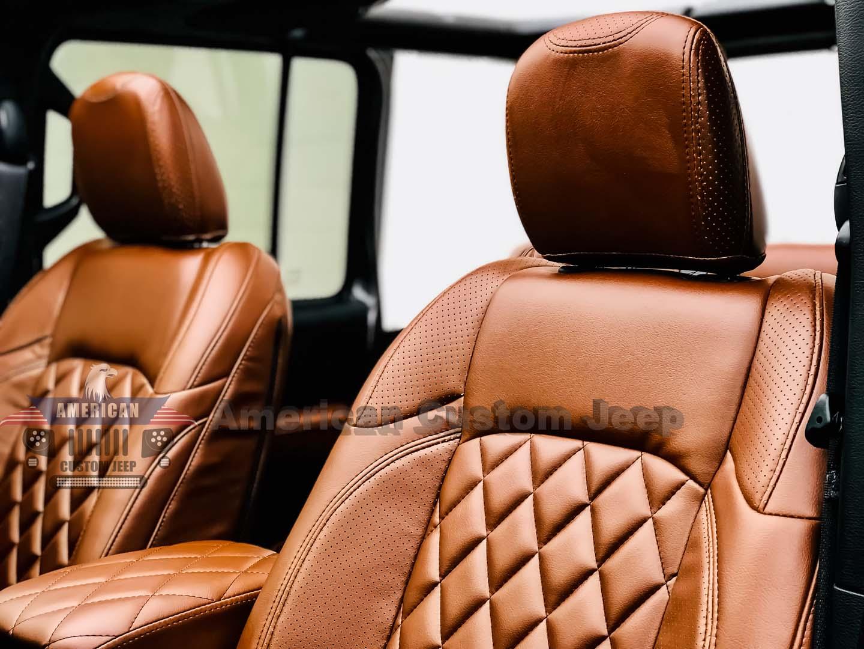 New Jl Series Saddle Brown Custom Jeep Interior Jeep Customization Miami Fl Houston Tx American Custom Jeep